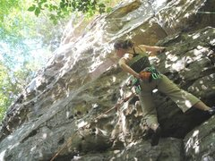 Rock Climbing Photo: start of route. unknown climber in this photo sequ...