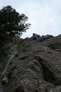 Rock Climbing Photo: Leading Rebuffat's Arete (5.7)  photo by Jason Par...