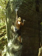 Rock Climbing Photo: into the upper moves