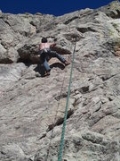 Rock Climbing Photo: Me pulling the roof move (on TR).