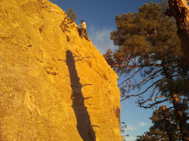 "Rock Climbing Photo: Me near the top of ""Ranger Danger"" at su..."