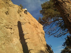 "Rock Climbing Photo: Kristina at the cold shuts after leading ""Ran..."