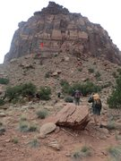 Rock Climbing Photo: Selfish Wall as seen from the approach trail, afte...