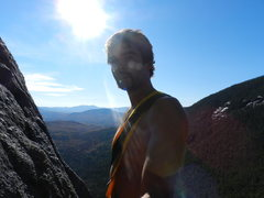 Rock Climbing Photo: The grand view from the P1 anchor