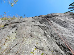 Rock Climbing Photo: Climbing the second pitch...