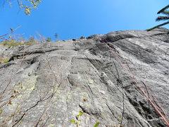 Rock Climbing Photo: Climbing the second pitch...