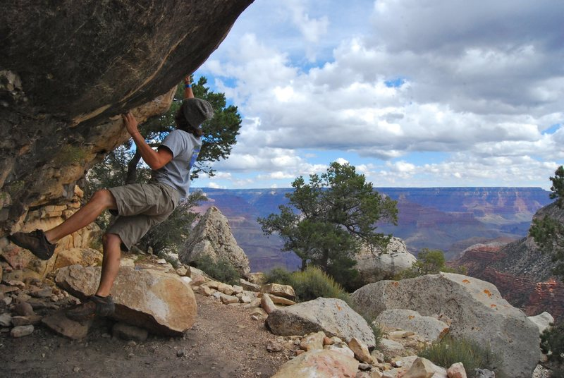 Rock Climbing Photo: Bouldering in Grand Canyon National Park