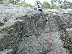 Rock Climbing Photo: Jim starting up Acapulco Gold