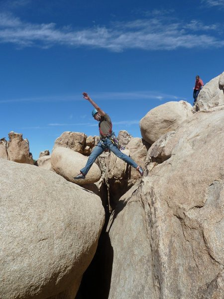 "Rock Climbing Photo: Part of the infamous ""Down Climb"" to get..."
