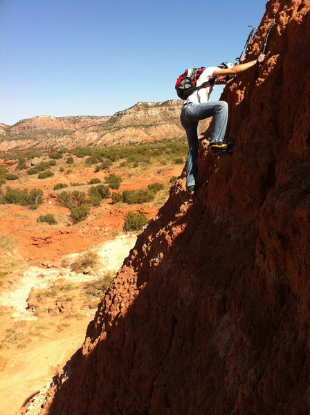 Rock Climbing Photo: Texas Dirt climbing aka texas ice climbing