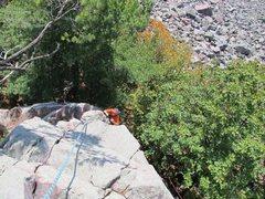 Rock Climbing Photo: Burt on Schiz.
