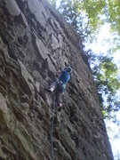 Rock Climbing Photo: Mary tackling the steep plates, reminiscent of the...