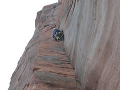 Rock Climbing Photo: Mike Keegan toping out on Breakfast Social
