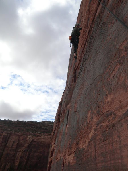 Rock Climbing Photo: Lisa Gillest on Hand Solo