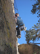 Rock Climbing Photo: Tenuously then, up the arete.