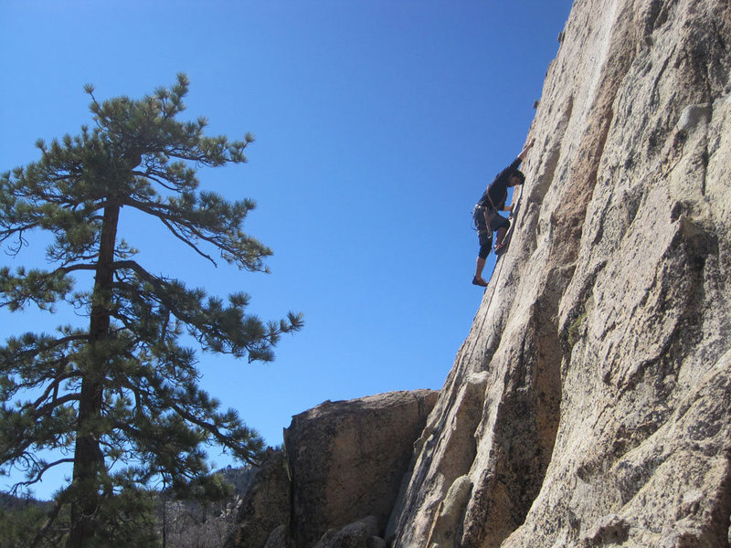 Rock Climbing Photo: Lluis on the Harlan Pepper crux.