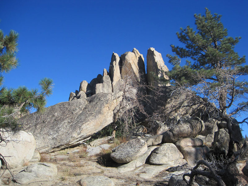 Rock Climbing Photo: The north side of Pinnacle with a View, taken on a...