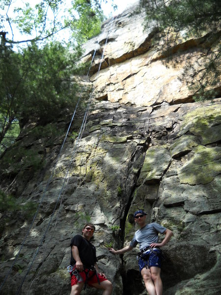 "Rock Climbing Photo: Nick and Cram at the base of ""Mark it Zero!&q..."