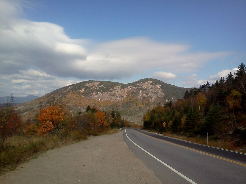 Here is a photo of the whole cliff as seen driving west on the Kanc towards Lincoln.
