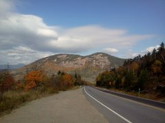 Rock Climbing Photo: Here is a photo of the whole cliff as seen driving...