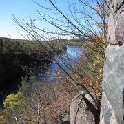Rock Climbing Photo: beautiful fall day on the Minnesota strip, early O...