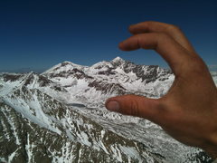 Rock Climbing Photo: Can see twin lakes and Castle Peak