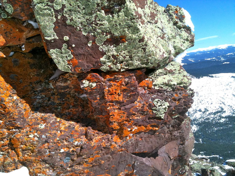 cool rock formation and colors