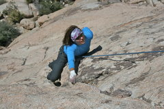 Rock Climbing Photo: Agina Sedler is a bird on a wire.