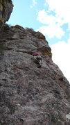Rock Climbing Photo: Arjun getting through the crux face on the FA. Pho...