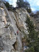 Rock Climbing Photo: Bill leading Kachemak Crack