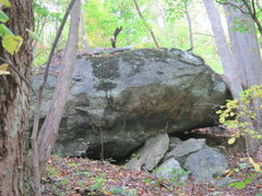 Rock Climbing Photo: as approach October's Boulder from Fox Mtn. Boulde...