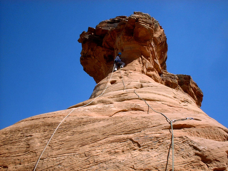 Rock Climbing Photo: Christ, getting ready to pull the final roof on Ot...