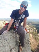 Rock Climbing Photo: Top of West Gruesome, Cathedral Spires, SD