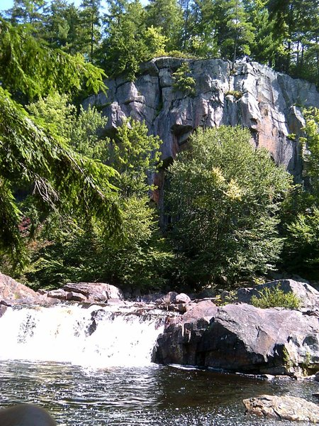 The Swimming hole at the entrance of Eagle Falls Cliff.