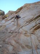 Rock Climbing Photo: Climber on pitch 1