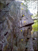 Rock Climbing Photo: sorry its a bad cell phone image but it gets the p...