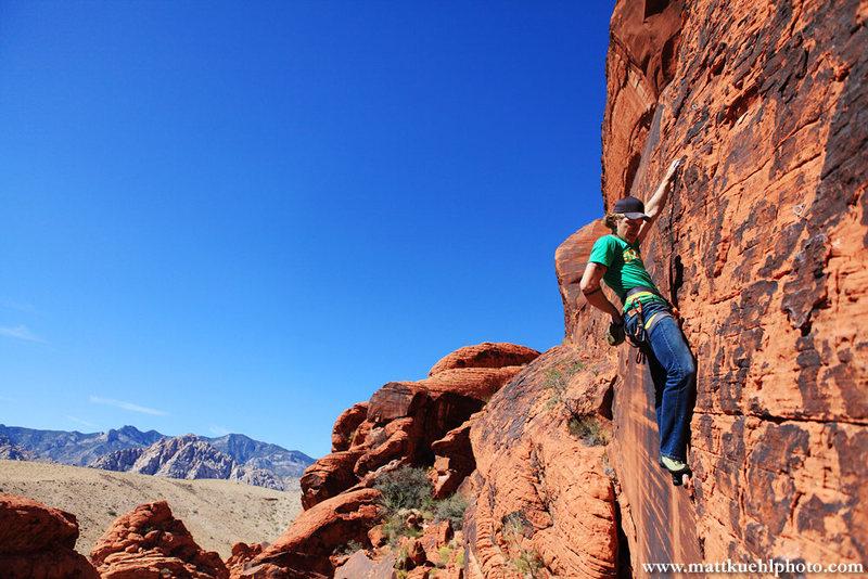 Andy Hansen nearing the top. <br> www.mattkuehlphoto.com