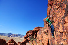 Rock Climbing Photo: Andy Hansen nearing the top.  mattkuehlphoto.com