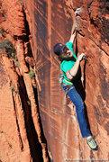 Rock Climbing Photo: Andy Hansen above the crux. mattkuehlphoto.com