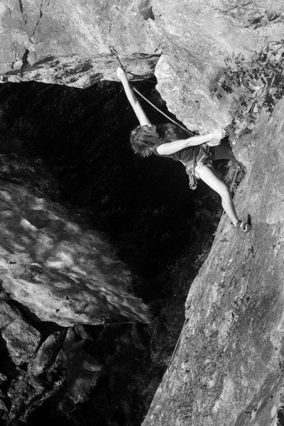 Rock Climbing Photo: another good perspective on the route as lily clip...