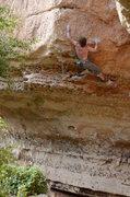 Rock Climbing Photo: Patrick working hard to get it...