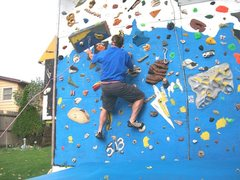 Rock Climbing Photo: clip 'N go practice around the climbing tower; 14 ...