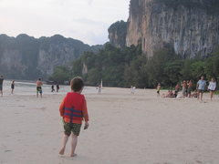 Rock Climbing Photo: First glimpse of beautiful Krabi, getting off the ...