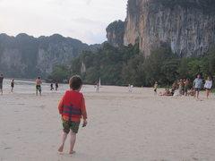 Rock Climbing Photo: First glimpse of beautiful Krabi, getting off the ...
