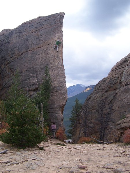Rock Climbing Photo: Edge of Time, Estes Park, Co.  A beautiful shot of...