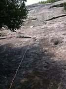 Rock Climbing Photo: It's best when cloudy. Otherwise lots of heat from...