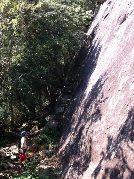 Rock Climbing Photo: A side view of the South Face. Homeboy is to the r...
