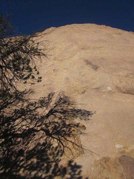 Ojo Blanco (5.8), Paleface Slab, Cochise Stronghold, AZ.