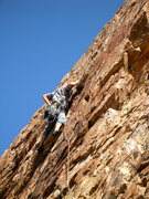Rock Climbing Photo: on the First Ascent of the last pitch