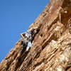 on the First Ascent of the last pitch